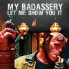 hellboy; hellboy • badassery