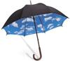 зонт, небо, ясное, дождь, голубой