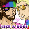 See you later, instigator: Big Boss/Kaz - pride parade