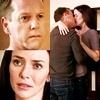 Kissing three frame