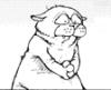 chubby hugs sad