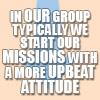 Avatar-upbeat attitude