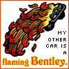 flaming bentley