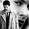 Castiel & Dean Black and White