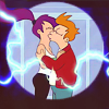 O, Hai!: Futurama LeelaFryKiss by paper_spaceship
