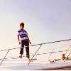 Sungmin on a boat