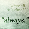 Lucille: Snape loves Lily always