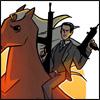 celestineangel: Inception - Arthur on a horse