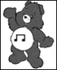 porpurina: music care bear