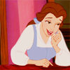 Belle (Disney's Beauty and the Beast): smile (sly/teasing)