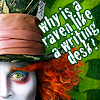 Andrea: Alice - mad hatter & quote