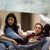 Evan/Divya watching tv