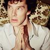 Queen of the Dirty Look: Sherlock sideways pray
