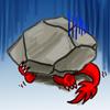hiding under rock