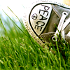 peace converse high tops
