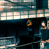 a regular decorated emergency.: Celty; Izaya - from horses up high