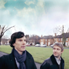 Sherlock and John: nice blue sky
