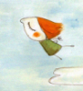 red haired flying girl