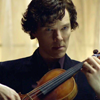 Our Drama Queen: sherlock moody plucking violin front