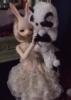 bunny & panda, The Labyrinth, masquerade ball, couple