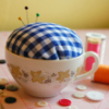 pincushion teacup