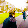 Sherlock walking away