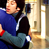 howard/raj hug