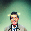 Castiel -- Tongue & Halo