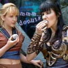 xena and gabrielle and donuts