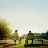 Geaven: SPN - Cas and Dean on bench