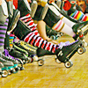 skates in a row