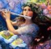 девушка с флейтой