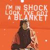 in shock - w/ blanket