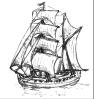 brig, ship, Horizon