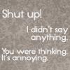 you were thinking it, Sherlock+ shut up