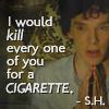 Sherlock - Kill for a cigarette