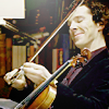 She went that-a-way...: Sherlock's violin smirk