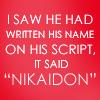 Nikaidon Mitsu Quote