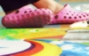 crocs, painting