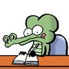 Крокодиленок делает уроки