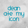 lolli_baka: dean ate my icon XD