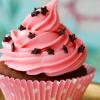 pink cupcake, food - pink cupcake