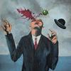человек с кричащим мозгом: magritt