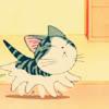 kitty runs