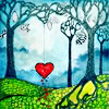 heart in woods