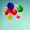 helium balloons;