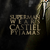 Geaven: SPN - Superman wears Castiel pyjamas