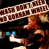 Wash: no wheel, lulzy steering