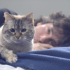 Neil with cat