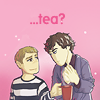 DarthHelloKitty: Sherlock John Tea chibi